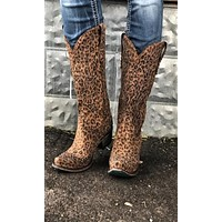 Lane Sagatoga Stud Boot~ Custome Cowgirl Kim Wild Cheetah Print