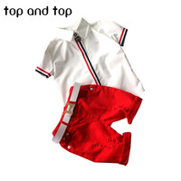 new kids clothing set baby boy cotton t shirt short pants children set for summer boy cartoon clothes fits 2 colors 2-6T