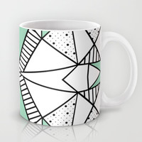Ab Lines and Spots Mint Mug by Project M