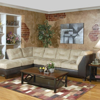 Saddle padded microfiber sectional by Serta Upholstery