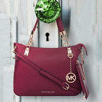 Michael Kors MK New printed  women's shopping bag Two Piece Crossbody Bag