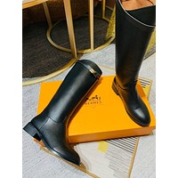 Hermes Fashion Women's Leather Boots