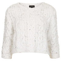 Knitted Cropped Cable Jumper - Knitwear - Clothing - Topshop USA