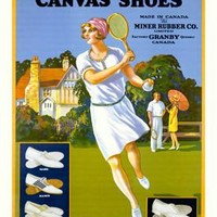 Miner's Canvas Shoes Ad Fine Art Print