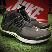 Best Online Sale Nike Air Presto Mid Utility BR Breathe Sport Running Shoes Men Black White Shoes 859524-101