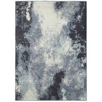 Oriental Weavers Evolution 8000B Navy/ Ivory Abstract Area Rug