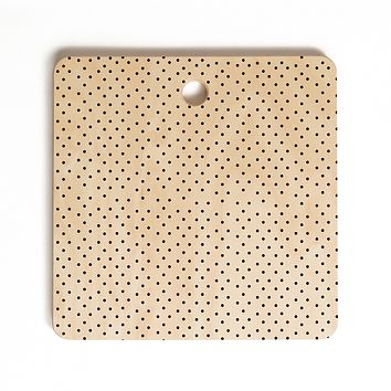 Allyson Johnson Tiny Polka Dots Cutting Board Square