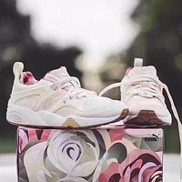 Bunchsun Puma Blaze Of Glory x Careaux x Graphic Valentine Rose Joint Name White Rose