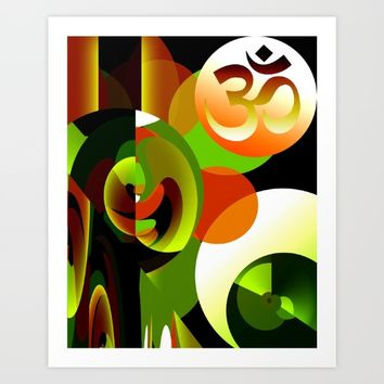 Om Symbol Abstract Design Art Print by Gift Of Signs