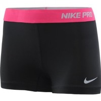 Nike Lady Pro Core II 2.5 Inch Compression Shorts - Large - Black