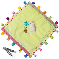 Mary Meyer 40046 Petals Hedgehog Taggies Cozy Baby Blanket with Pacifier Clip
