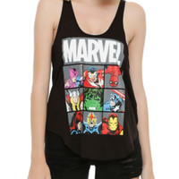 Marvel Heroes Boxes Girls Tank Top