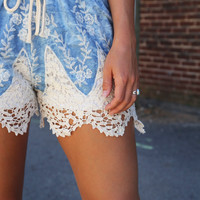 Dazed In Crochet Shorties