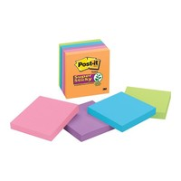 "Walmart: Post-it Super Sticky Electric Glow Notes, 3"" x 3"", 5-Pack"