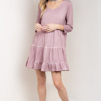 Mauve Pink Mineral Washed Dress