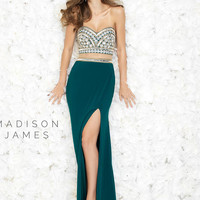 High Split Madison James Prom Dress 15-168