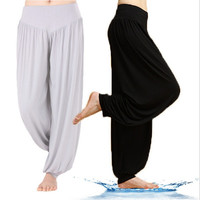 Women Comfy Harem Loose Long Pants Belly Dance Casual Boho Wide Trousers Yoga = 1932652676