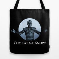 Come at Me, Snow! Tote Bag by BinaryGod.com