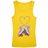 Roller Skate Heart Youth Girls Tank Top