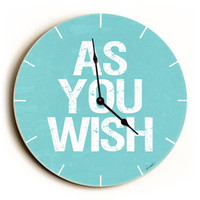 As You Wish Unique Wall Clock by Artist Lisa Weedn
