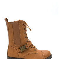 Hike Out Faux Leather Combat Boots