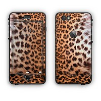 The Mirrored Leopard Hide Apple iPhone 6 Plus LifeProof Nuud Case Skin Set
