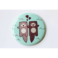 Significant Otters Fridge Magnet, Pin, or Mirror