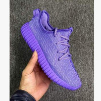 """Fashion """"Adidas"""" Yeezy Boost Solid color Leisure Sports shoes Purple T"""