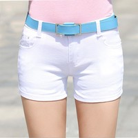 2016 Summer Denim Shorts Slim Fit ladyies elastic waist sexy female Short Jeans for Women