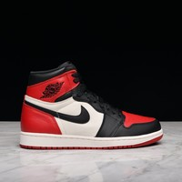 "HCXX AIR JORDAN 1 RETRO HIGH OG ""BRED TOE"""