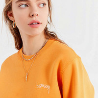 Stussy + UO Smooth Stock Crew-Neck Sweatshirt | Urban Outfitters