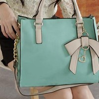 New Style Hit Color Three-dimensional Bow Handbag from styleonline