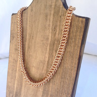 Bronze Half Persian Necklace- Ready to Ship
