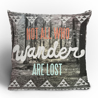 "Wesley Bird ""Wander"" Throw Pillow"