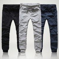 Mens Casual Jogger Dance Sportwear Sports Harem Pants Slacks Trousers Sweatpants
