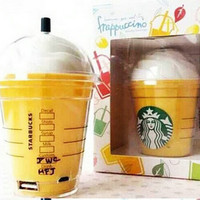 Universal Starbucks power bank 5200mAh portable charger Fit for Apple iphone 5 5s 6 plus All smartphones External backup battery
