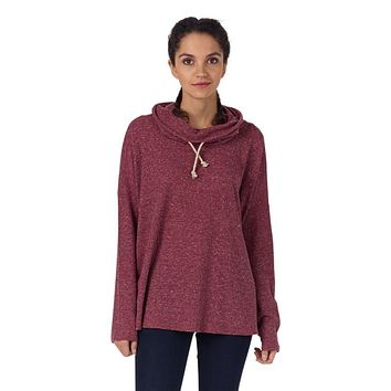 Burton Womens Bloom Knit Top, Sangria Heather, Small