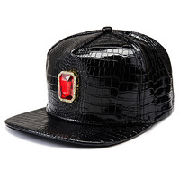 Fashion Gemstone Hip-hop Style Black Hats