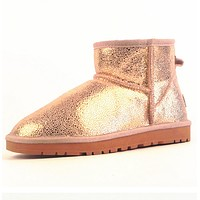 UGG> snow boots leather boots, female + male-7