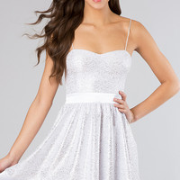Short Sparkling Spaghetti Strap Dress