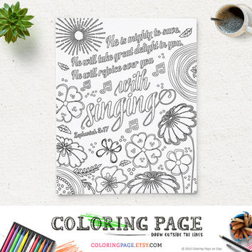 Coloring Sheet Printable Coloring Page - Instant Download ... | 354x354