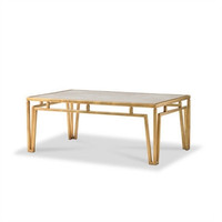 Modern Marble Coffee Table by Bunny Williams