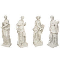Set of Large Italian Neoclassical Allegorical Figures, circa 1850