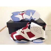 Air Jordan 6 red/white Basketball Shoes 36-47