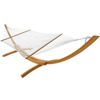 Deluxe Polyester Rope Hammock at Brookstone—Buy Now!