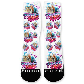 Tiger King Custom Athletic Fresh Socks