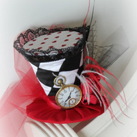 The Queen's Court - Mad Hatter - Mini Top Hat - Alice In Wonderland - Tea Party Hat - Girl's Birthday Hat