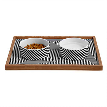 Three Of The Possessed Dazzle Apartment Pet Bowl and Tray