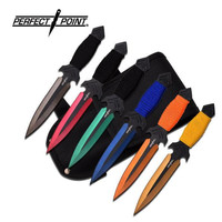 6 Pc 6 Color Throwing Knife set & Leg Holster