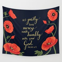 Poppies Wall Tapestry by Lauren Wilhite